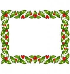 Holly frame vector