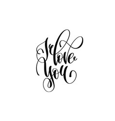 i love you hand lettering inscription vector image vector image