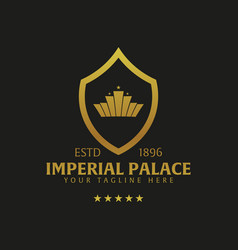 Imperial palace hotel logo and emblem logo vector
