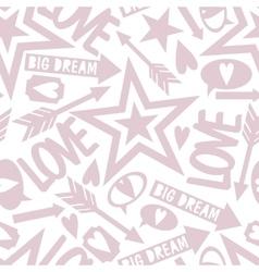 Inscription love big dream vector