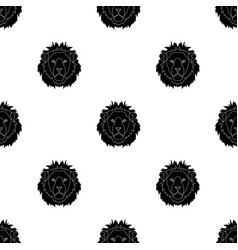 lion icon in black style isolated on white vector image