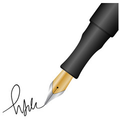 Pen and signature vector
