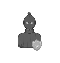 Robbery insurance icon black monochrome style vector image
