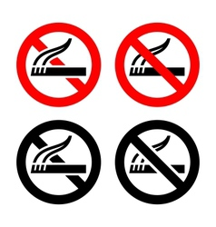 Set symbols - No smoking vector image vector image