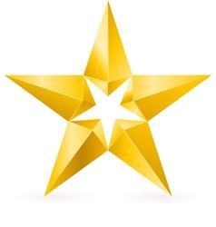 Shiny Gold Star vector image vector image