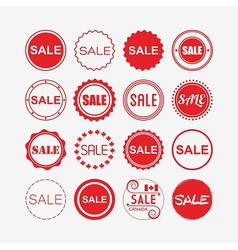 shopping and retail design elements vector image
