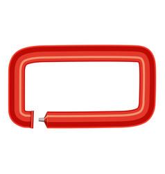 sign dash plastic tube icon cartoon style vector image