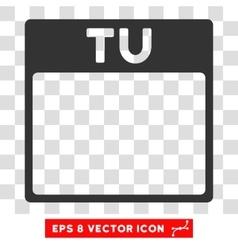 Tuesday calendar page eps icon vector