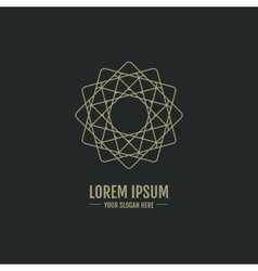 Luxury abstract elegant logotype in the shape of a vector image