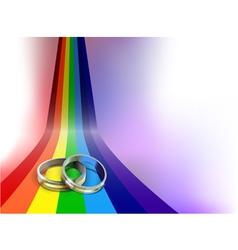 Gay wedding rings vector