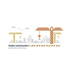 Real estate building company under construction vector