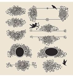 vingette romantic vector image