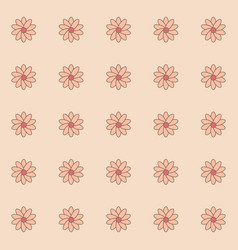 pattern of flower vector image