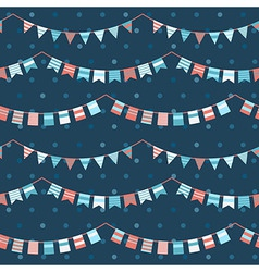 Colorful pattern with bunting and garland vector