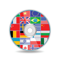 Disk with flags vector