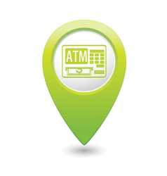 Atm icon green pointer vector