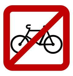 No bike sign vector