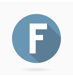 Letter f icon with flat design vector
