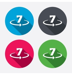 Return of goods within 7 days sign icon vector