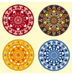 Decorative ornamental circles set vector