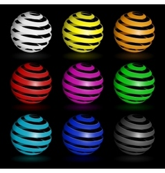 Colorful glossy spheres isolated vector