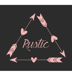 Rustic graphic design vector