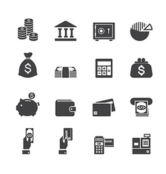 Money and finance icon vector