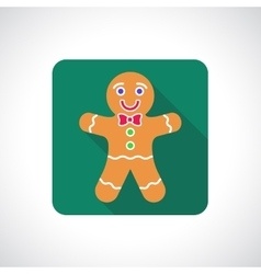 Christmas gingerbread cookie icon vector