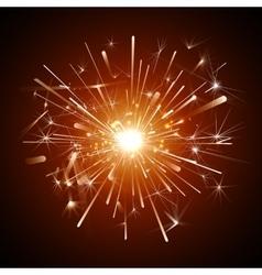 orange firework vector image