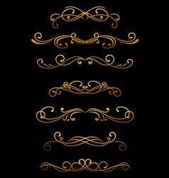Vintage ornamental borders vector
