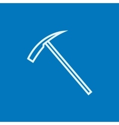 Ice pickaxe line icon vector