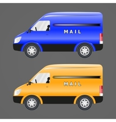 Postal vehicles vector