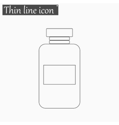 Iimage of a vaccine vial icon style thin vector