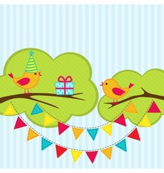 Birthday party card vector