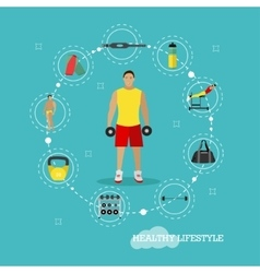 Healthy lifestyle concept in vector
