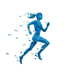 Active running woman Energy vector image vector image