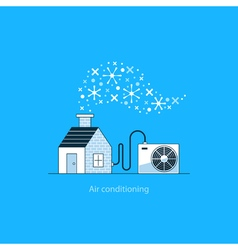 Air conditioning concept vector