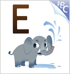 Animal alphabet for the kids E for the Elephant vector image vector image