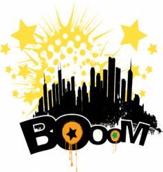 boom city vector image vector image