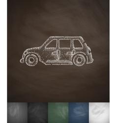 Car icon hand drawn vector