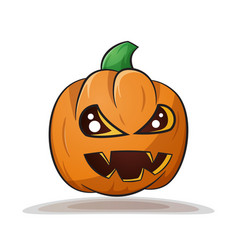 Cartoon pumpkin evil horror vector