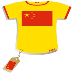 Chinese Flag T-shirt vector image