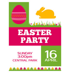 Easter party invitation poster flyer design vector
