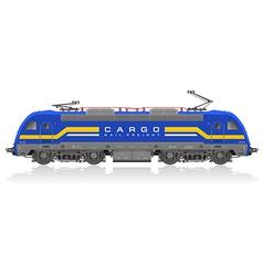 electric locomotive vector image vector image