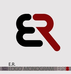 ER logo monogram vector image