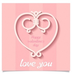 Festive happy valentines day heart vector