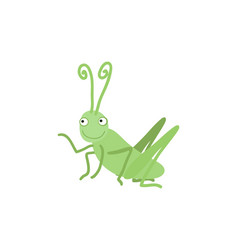 Funny grasshopper cartoon vector