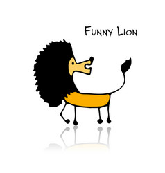 Funny lion sketch for your design vector