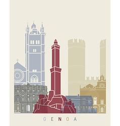 Genoa skyline poster vector image vector image