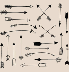 Hand draw arrow collection vector